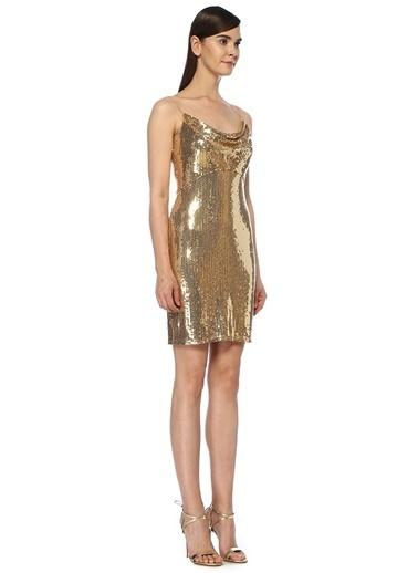 Tadashi Shoji Elbise Altın